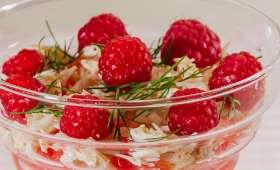 Salade d'araignée au pamplemousse et aux framboises