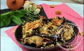 Salade d'aubergines grillées au millet et à la menthe