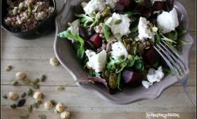 Salade de sarrasin au mesclun et chèvre frais