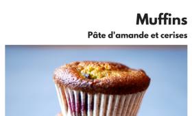 Muffins à la pâte d'amande et aux cerises