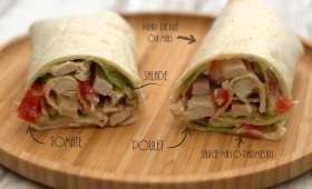 Wrap au poulet, mayonnaise et parmesan