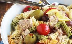 Salade de pâtes au thon en boîte