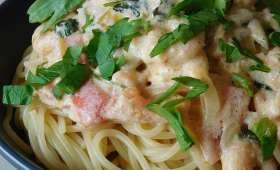 Spaghettis aux crevettes