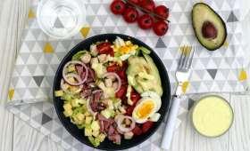 Salade cobb et sauce yaourt moutarde-miel