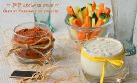 Dips de légumes crus