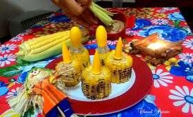 Brochette de maïs au beurre assaisonné