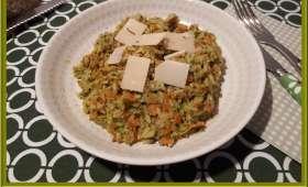 Riz au pesto et carottes