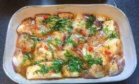 Aubergines au gingembre, cuites à la vapeur