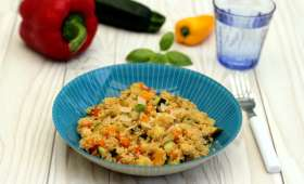 Quinoa façon risotto à la courgette et poivron