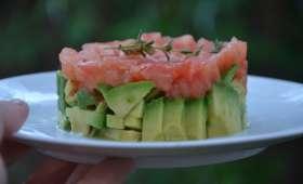 Tartare végétarien tomates et avocat
