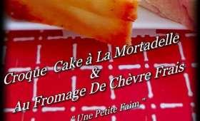 Croque cake à la mortadelle et au fromage de chèvre frais