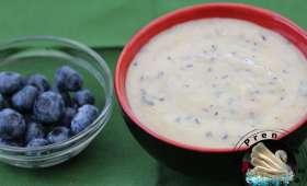 Crème pâtissière aux myrtilles