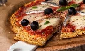 Pizza en croûte de chou-fleur