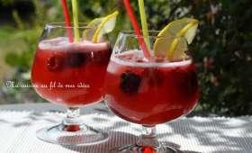 Limonade aux mûres et framboises