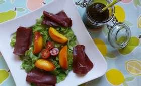 Salade de bœuf séché aux nectarines