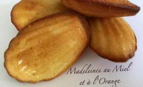 Madeleines au miel et à l'orange