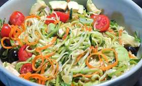 Spaguetti de courgettes en salade