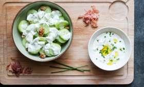 Salade de concombre et tzatziki facile et rapide