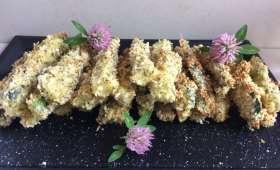 Frites de courgettes à la panure de Panko