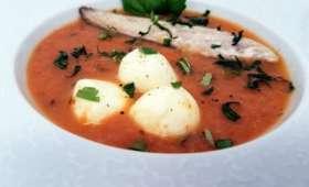 Gaspacho tomates et rhubarbe