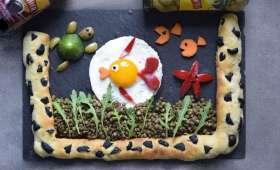 Défi culinaire 2018 / Petit poisson rouge dans son aquarium