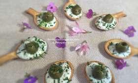 Petite cuillère apéritive tzatziki olive -