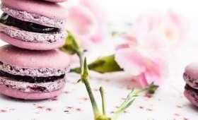 Macarons myrtilles et violette