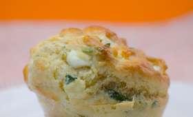 Muffins au basilic et à la feta