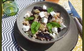 Salade d'Aubergine au Blé et à la Feta