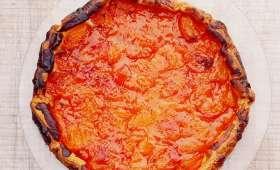 Tarte fine abricot lavande