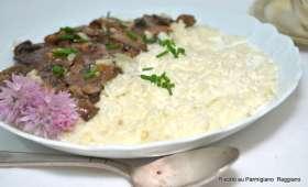 Risotto aux champignons et au Parmigiano Reggiano