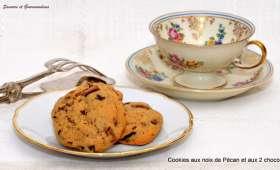 Cookies aux noix de Pécan et aux 2 chocolats