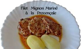 Filet mignon de porc mariné à la Provençale et à ma façon