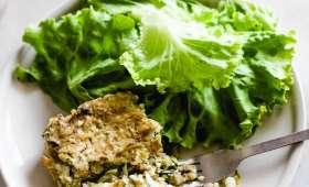 Gratin de riz et de courgette à la tapenade verte