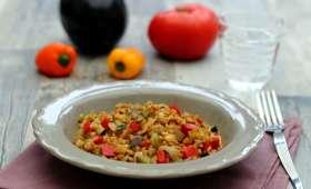 Petit-épeautre façon risotto aux légumes du soleil