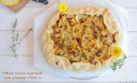 Maxi tarte rustique aux légumes d'été