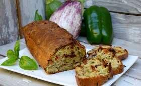 Cake aux légumes grillés et parmesan
