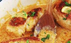 Poulet sauce crémeuse, ail et citron