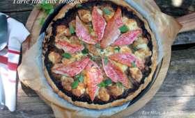 Tarte fine aux rougets, tapenade et mozzarella