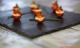 Tomates cerise farcies pour l'apéritif