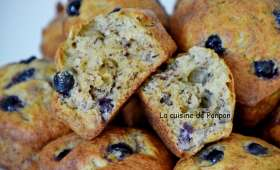 Muffin aux bananes et cassis