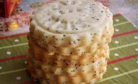 Biscuits citron et graines de pavot