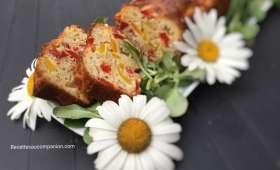 Cake salé aux poivrons mozzarella et chorizo