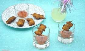 Moules panées et son caviar de poivrons rouges