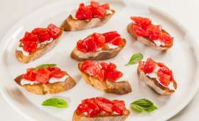 Bruschette tomates mozzarella