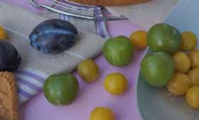 Tarte aux 3 prunes spéculoos et amandes