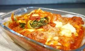 Cannellonis au brocciu et aux épinards