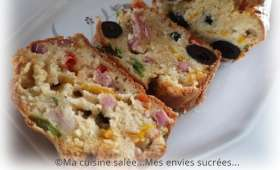 Cake mascarpone - Lardons - Poivrons - Olives