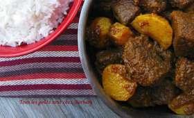 Curry moghol au boeuf et aux navets