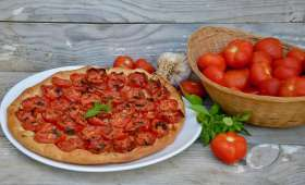 Tarte aux tomates et basilic